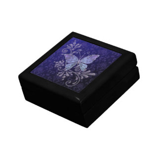Jewel Butterfly Small Square Gift Box
