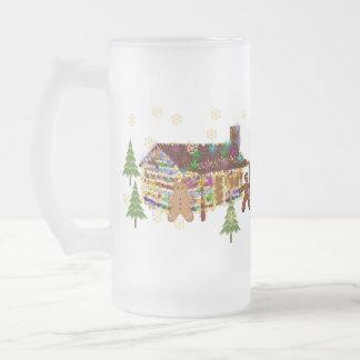 Jewel-Covered Gingerbread House Coffee Mugs