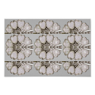 JEWEL cream sombre color serenity  ART Collection Poster