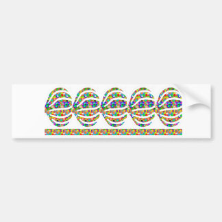 Jewel Cutout Decorations on GIFTS art by NAVIN JOS Car Bumper Sticker