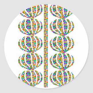 Jewel Cutout Decorations on GIFTS art by NAVIN JOS Round Sticker