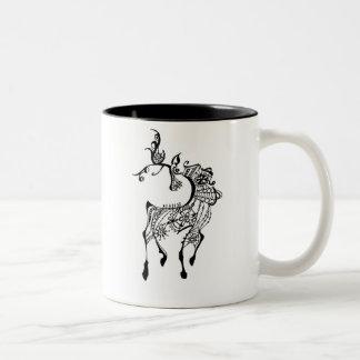 Jewel Deer Two-Tone Coffee Mug
