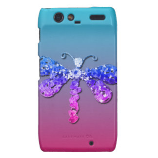 Jewel Dragon Fly Sparkle Customize pretty Droid RAZR Cover