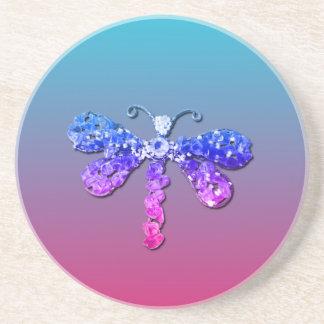 Jewel Dragon Fly Sparkle Customize pretty Coasters