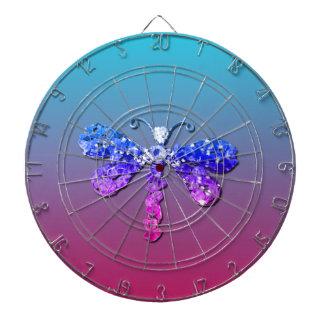 Jewel Dragon Fly Sparkle Customize pretty Dart Board