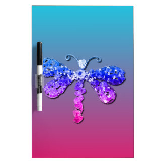 Jewel Dragon Fly Sparkle Customize pretty Dry-Erase Whiteboard