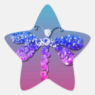 Jewel Dragon Fly Sparkle Customize pretty Sticker