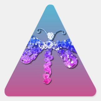 Jewel Dragon Fly Sparkle Customize pretty Stickers