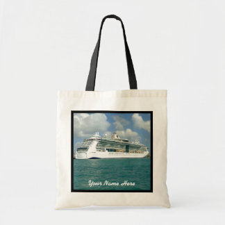 Jewel in Key West Black Trimmed Personalized Budget Tote Bag
