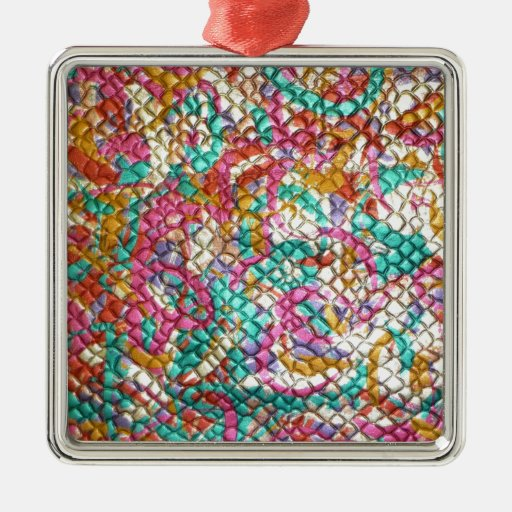 Jewel Jeweled Colorful Print Customize add Text Christmas Tree Ornaments