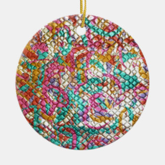 Jewel Jeweled Colorful Print Customize add Text Christmas Ornament