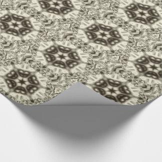 Jewel kaleidoscope in browns tiled paper