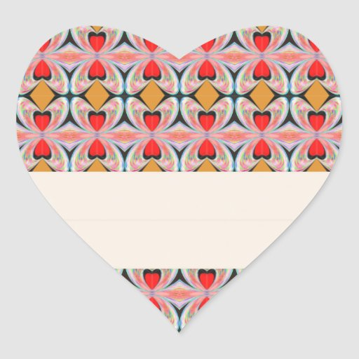 Jewel n Diamond Pattern with EDITABLE Text Heart Stickers