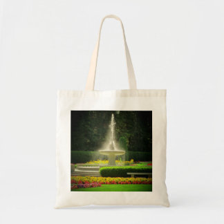 Jewel of the Garden Spraying Fountain Budget Tote Bag