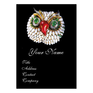 JEWEL OWL ,Gold,Green Emerald ,opale Pack Of Chubby Business Cards