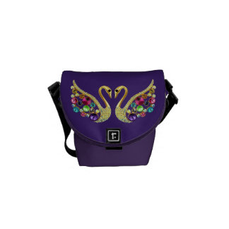 Jewel Peacocks Funky Purple Messenger Bag