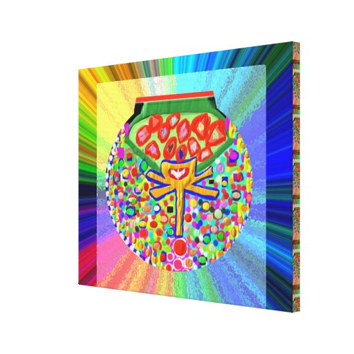 Jewel set in HEART CHAKRA Gallery Wrapped Canvas