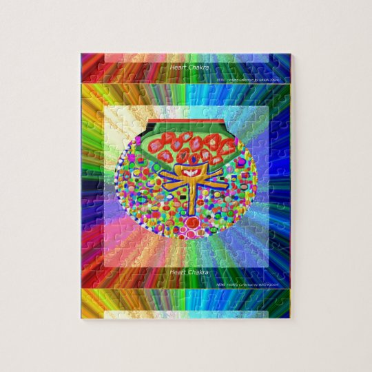 Jewel set in HEART CHAKRA Jigsaw Puzzle