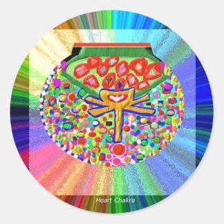 Jewel set in HEART CHAKRA Sticker