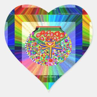 Jewel set in HEART CHAKRA Heart Sticker