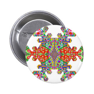 Jewel SnowFlake Snow Flake TEMPLATE Resellers gift 6 Cm Round Badge