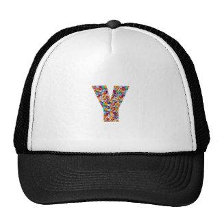 Jewel Stones Studded Alpha Y initial ID birthday Cap