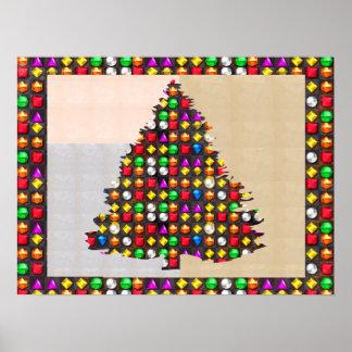 Jewel studded  Christmas Tree   XMAS Poster