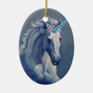 Jewel the Unicorn Ceramic Oval Decoration