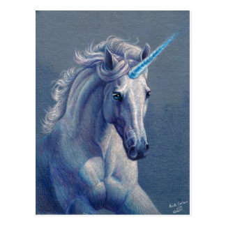 Jewel the Unicorn Postcard