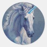 Jewel the Unicorn Round Stickers