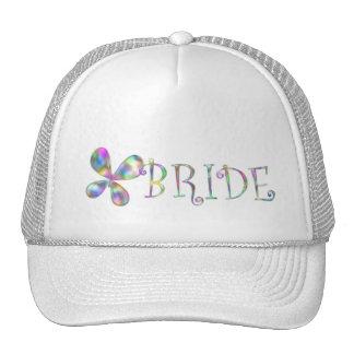 Jewel Tone Butterflies Mesh Hat