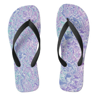 Jewel Tone Glitch 2 Flip Flops