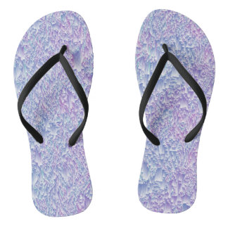 Jewel Tone Glitch Flip Flops