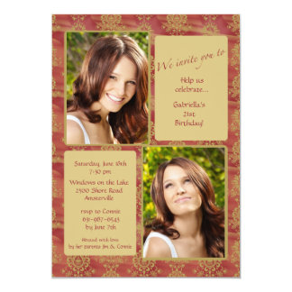 Jewel-tone Photo Invitation
