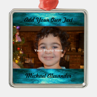 Jewel Tone Photo Ornament
