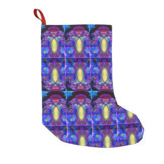 Jewel-toned abstract small christmas stocking