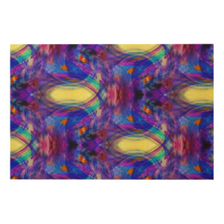 Jewel-toned abstract wood wall decor