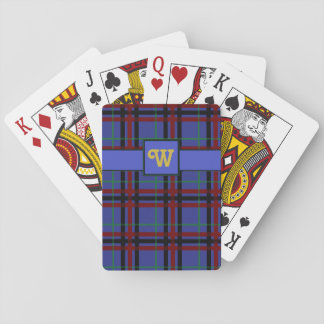 Jewel-Toned Plaid Classic Playing Cards