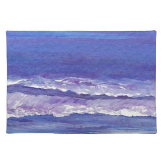 Jewel toned sunset ocean waves seascape gifts place mat