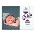 Jewel Tones Geometric Ornaments Holiday Photo Card 13 Cm X 18 Cm Invitation Card