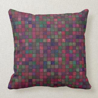 Jewel Tones Mosaic Patterned Cushion