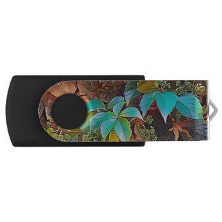 Jewel vine leaves USB flash drive