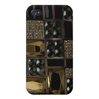 Jeweled and leather I Phone Case iPhone 4 Case