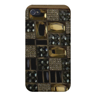 Jeweled and leather I Phone Case iPhone 4/4S Covers