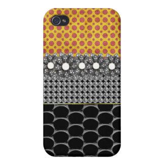 Jeweled and Rhinestone I Phone Case Cover For iPhone 4
