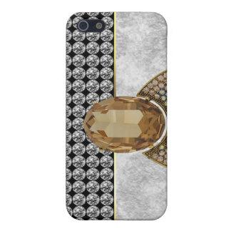 Jeweled and Rhinestone I Phone Case Cover For iPhone 5