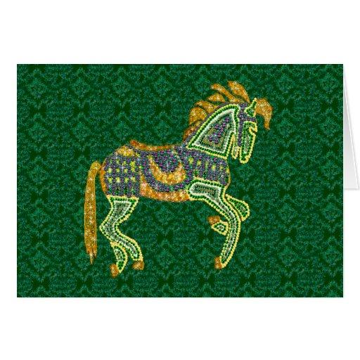 Jeweled Artistic Horse Card