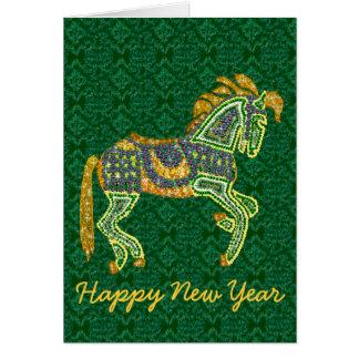 Jeweled Artistic Horse Greeting Card