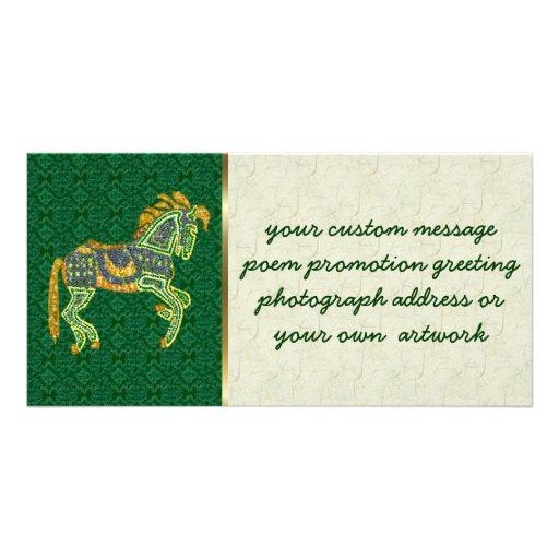 Jeweled Artistic Horse Photo Card Template