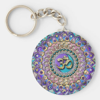 Jeweled Astrosymbology Mandala Keychain